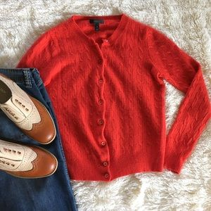 Sweaters - j. crew • wool and rabbit hair crimson cardigan